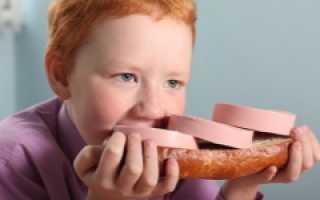 Можно ли колбасу ребенку год